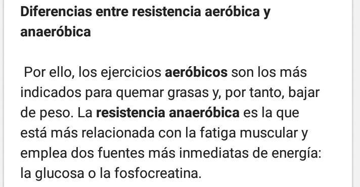 Diferencias Entre Resistencia Aeróbica Y Anaeróbica Brainly Lat