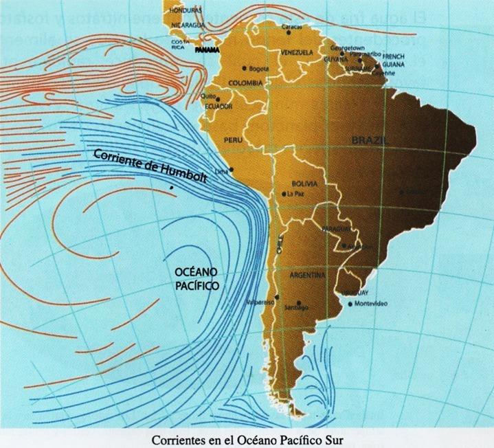 observa el mapa mundo de las corrientes marinas Identifica q