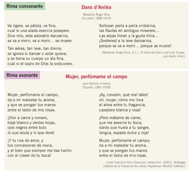 Leo Estos Ejemplos De Poemas Con Rima Consonante Y Asonante