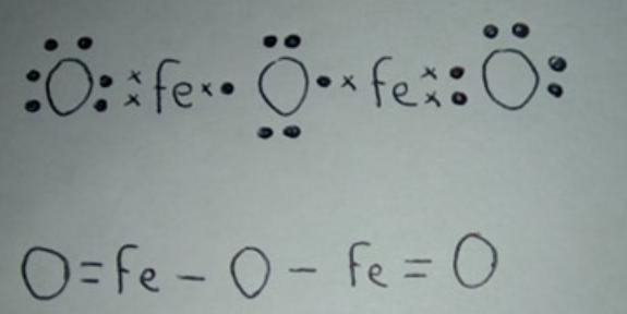 H Escriba La Estructura De Lewis Para El Fe2o3 Incluir La