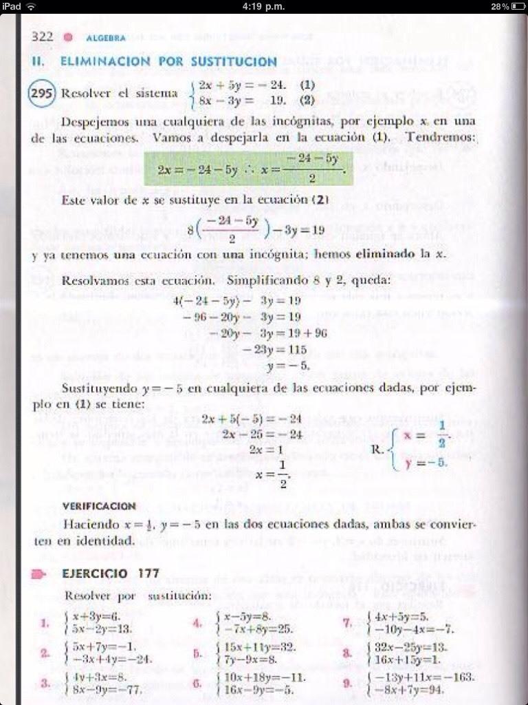 Ejercicio 177 del algebra de baldor resuelto brainly. Lat.
