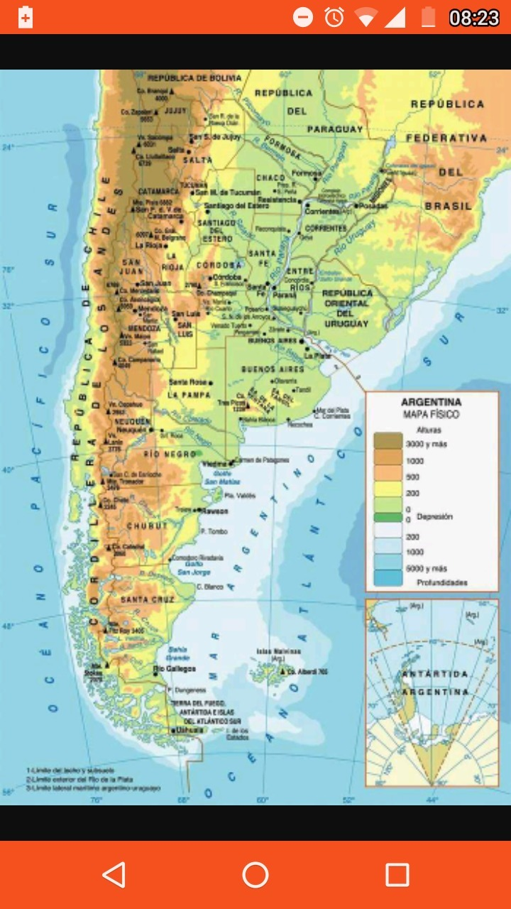Mapa Fisico Politico De Argentina Para Imprimir Brainly Lat