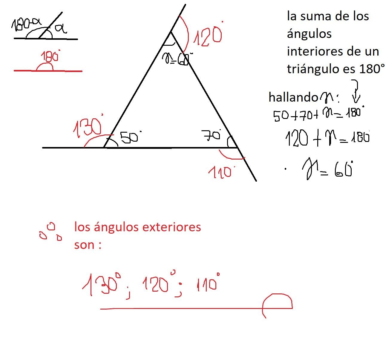 Calcula La Medida De Los ángulos Externos De Un Triángulo Si Las Medidas De Dos ángulos Internos Brainly Lat