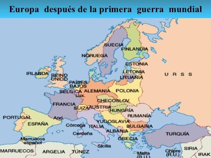 Mapa De Europa Despues De La Primera Guerra Mundial Brainly Lat