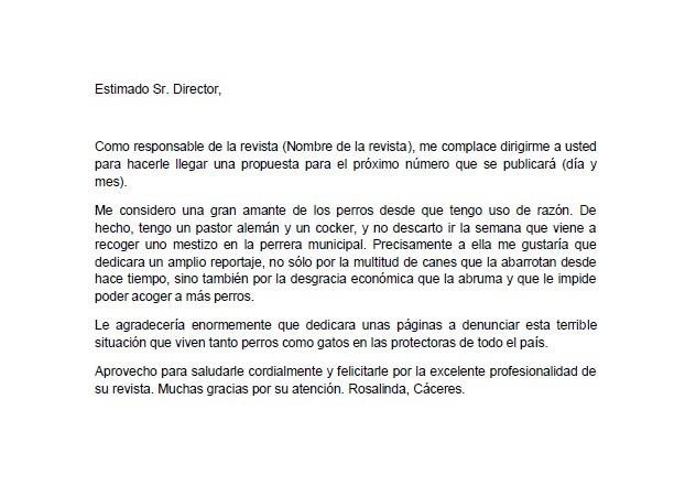 Ejemplo Sobre Una Carta Formal Para El Director Que Quiere Cambiar