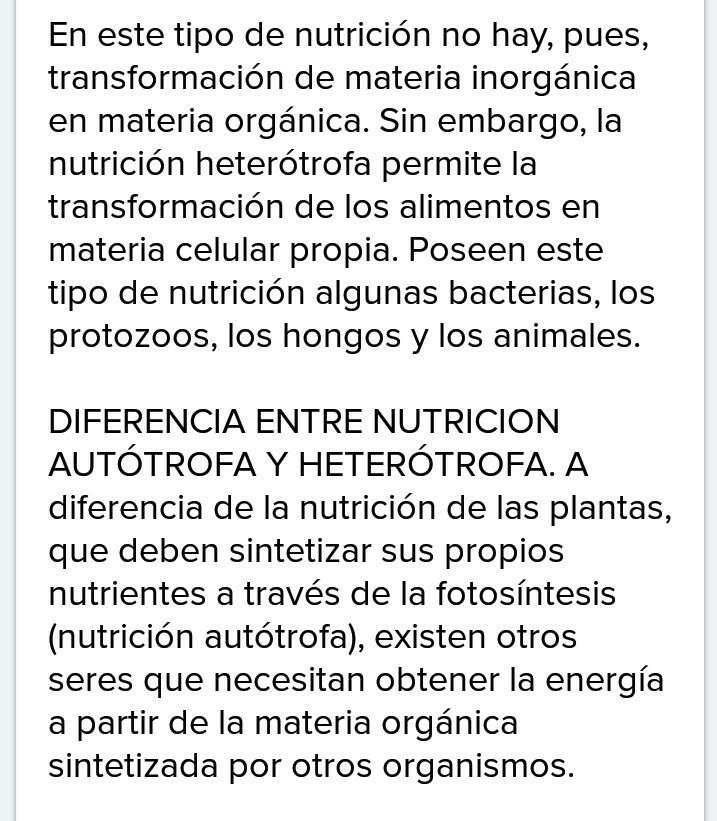 Quien Me Puede Ayudar Con 20 Pregunta Sobre La Nutricion Autotrofa Y 20 De La Nutricion Heterotrofa Brainly Lat