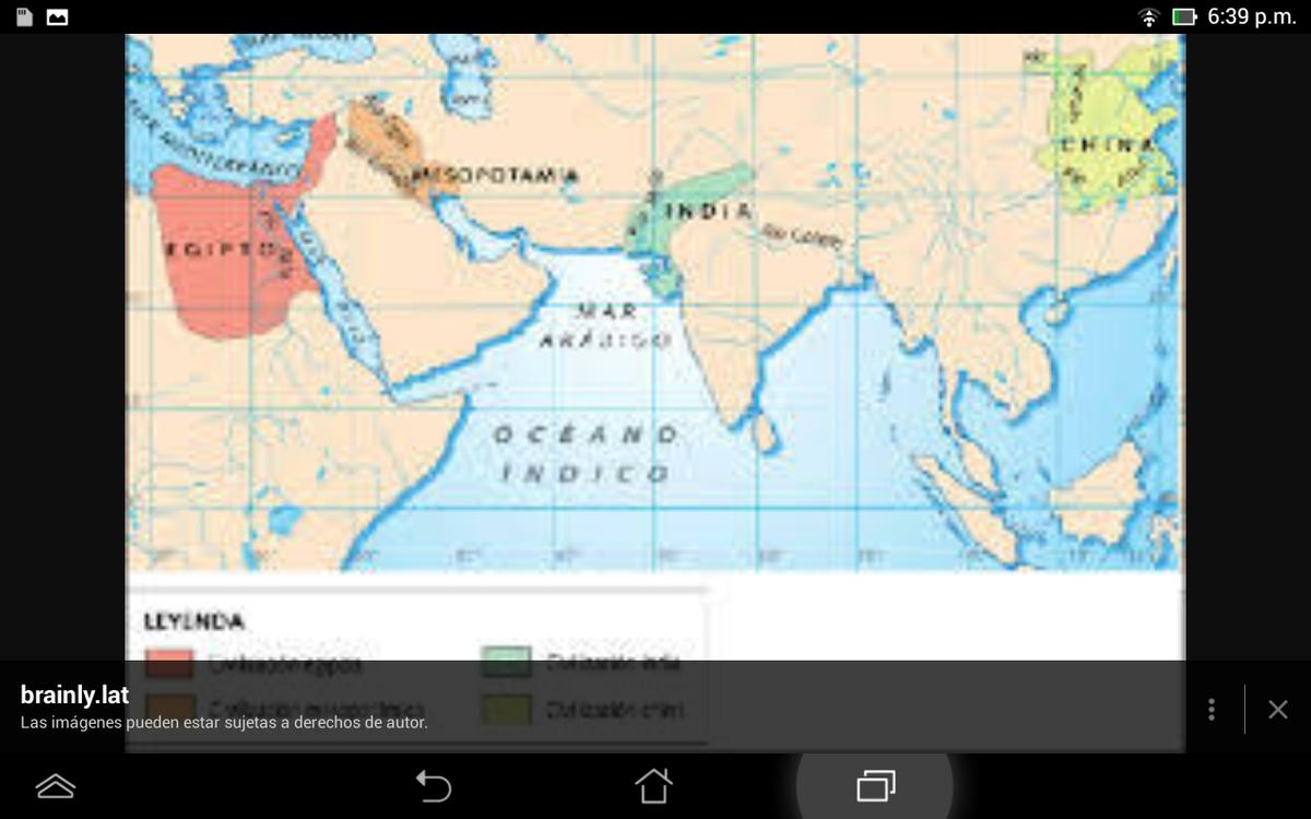 mapa de asia los territorios ocupados por mesopotamia india y
