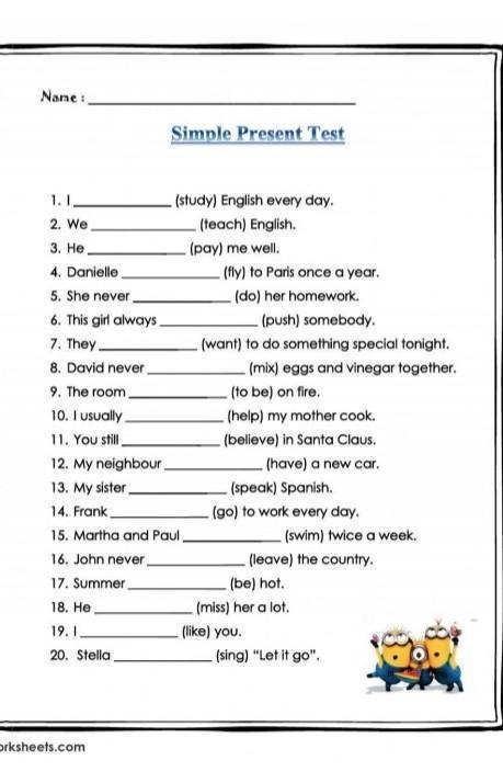 Hola Qtal Necesito Ayuda Con Una Tarea Acerca Del Simple Present De Ingles Cuales Son Las Respuestas Brainly Lat
