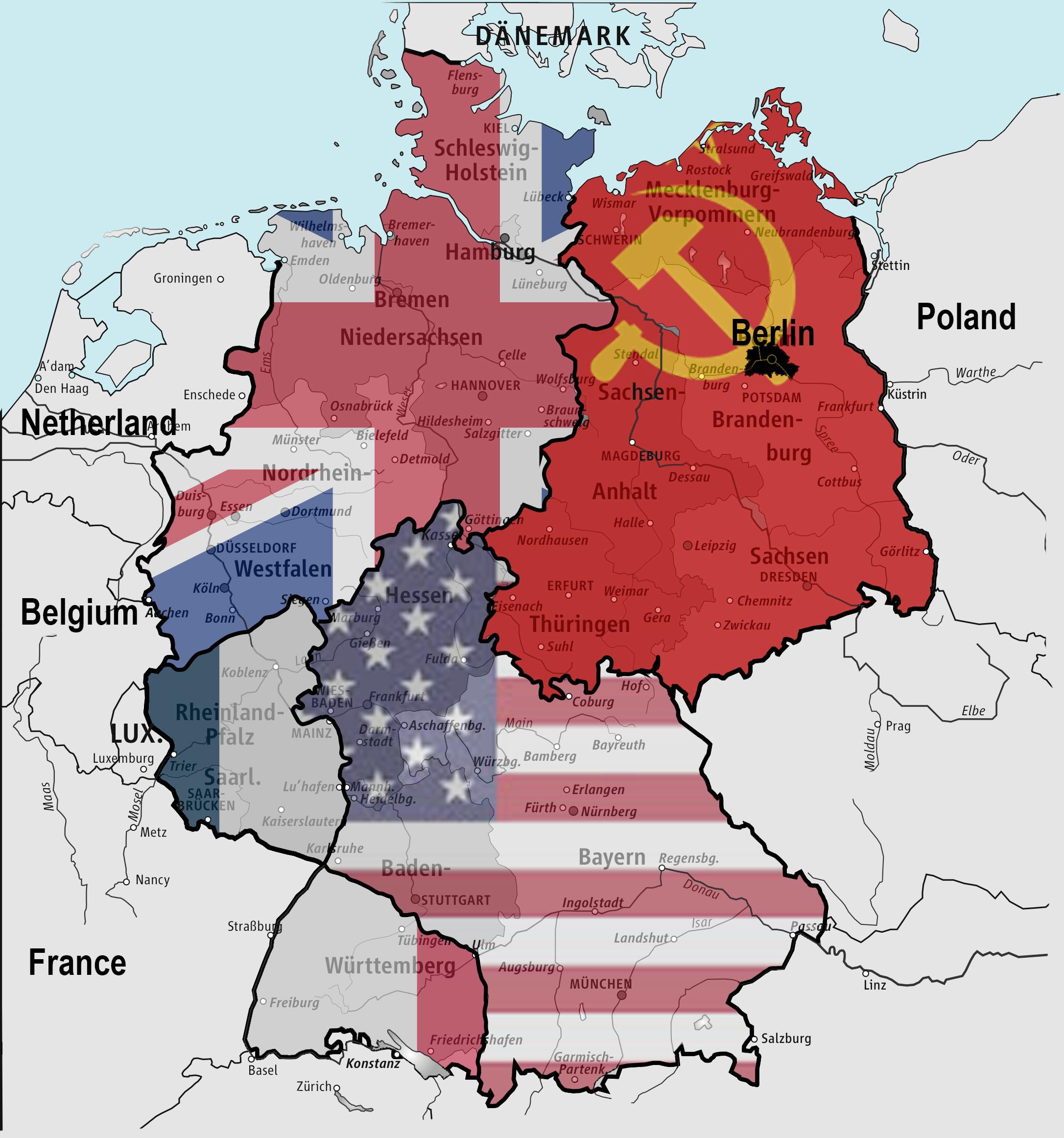 Resultado de imagen de division de alemania