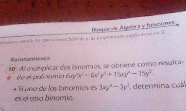 Al multiplicar dos binomios se obtiene como resultado el polinomio para hoy  pliss 752ea3853c