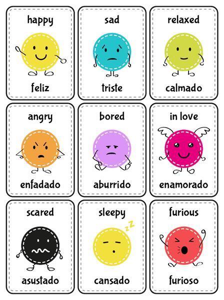 Ingles sentimientos positivos en