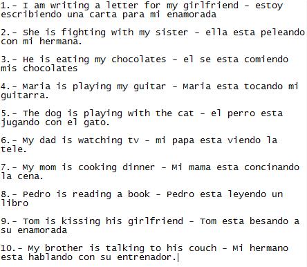 Escribe 10 Frases En Inglés De Sujetoel Verbo To Beverbo
