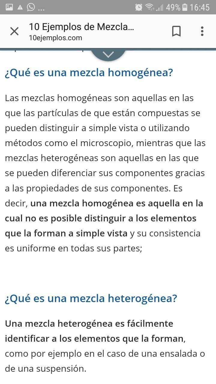 10 Ejemplos De Mezclas Y 10 De Combinaciones Brainly Lat