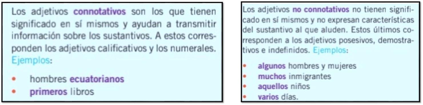 10 Ejemplos De Adjetivos Connotativos Y No Connotativos Xfa