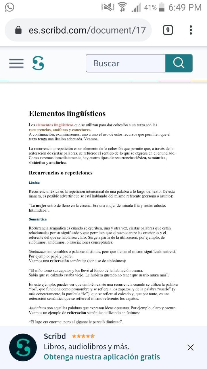 Elementos Lingüísticos Que Contribuyen A Dar Orden Y