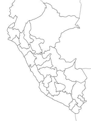 Mapa Del Peru Y Sus Regiones Para Colorear Ayuda Porfa