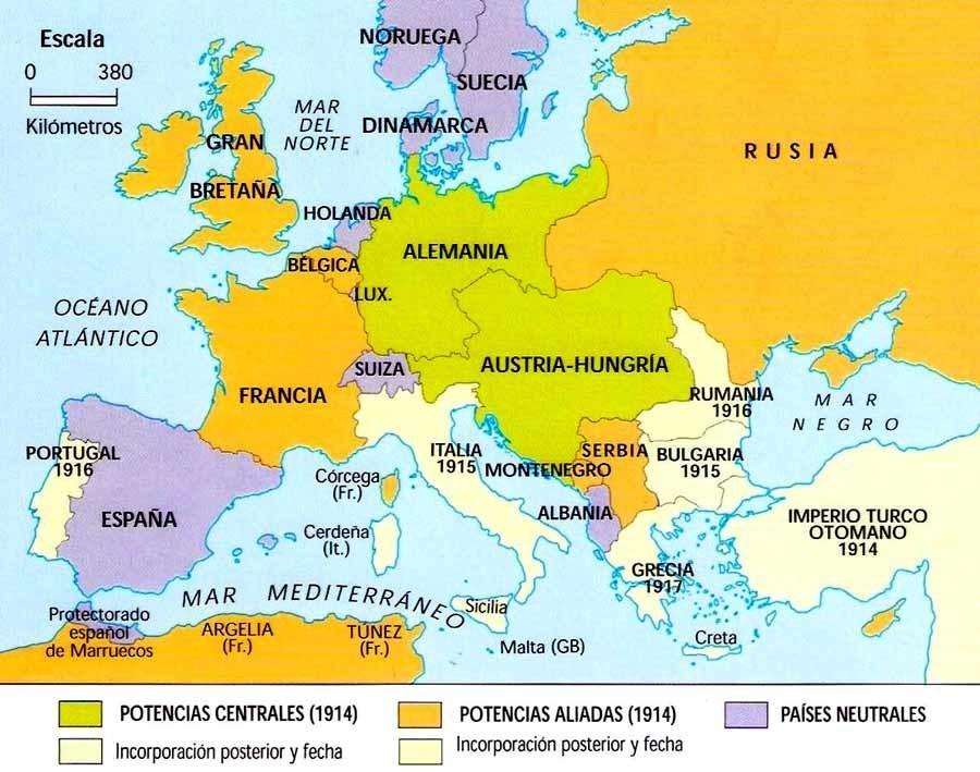 mapa de europa antes de la primera guerra mundial , ayuda porfa ...