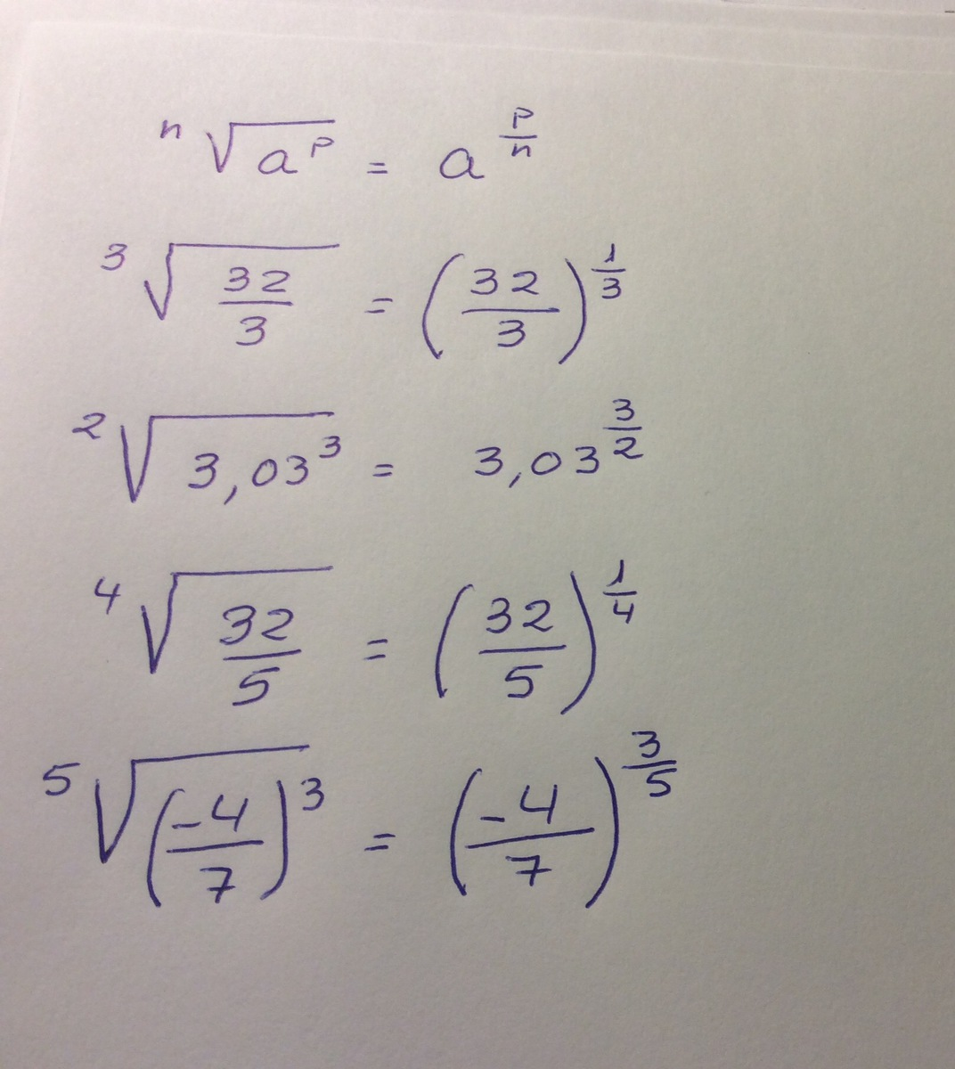Escribe en forma de potencia las siguientes raices Raiz cubica de 32 ...
