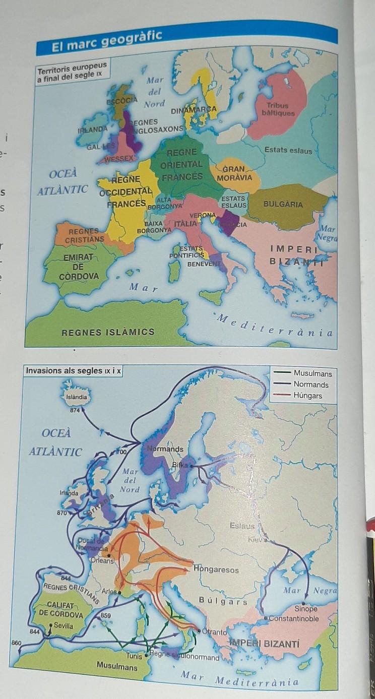 Mapa Europa Siglo Ix.Observa El Mapa De Las Invasiones En Los Siglos Ix Y X Responde A Que Pueblos Amenazaban La Brainly Lat