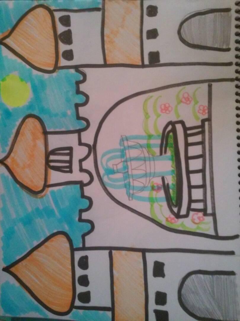 Dibuja una casa con elementos arabes: puertas de hierro forjado,uso ...