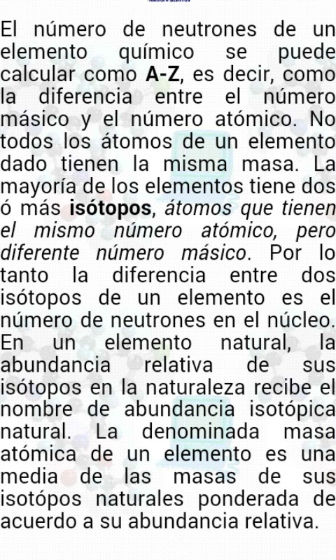 atomo de un mismo elementoque tiene diferentes masas anatomicas ...