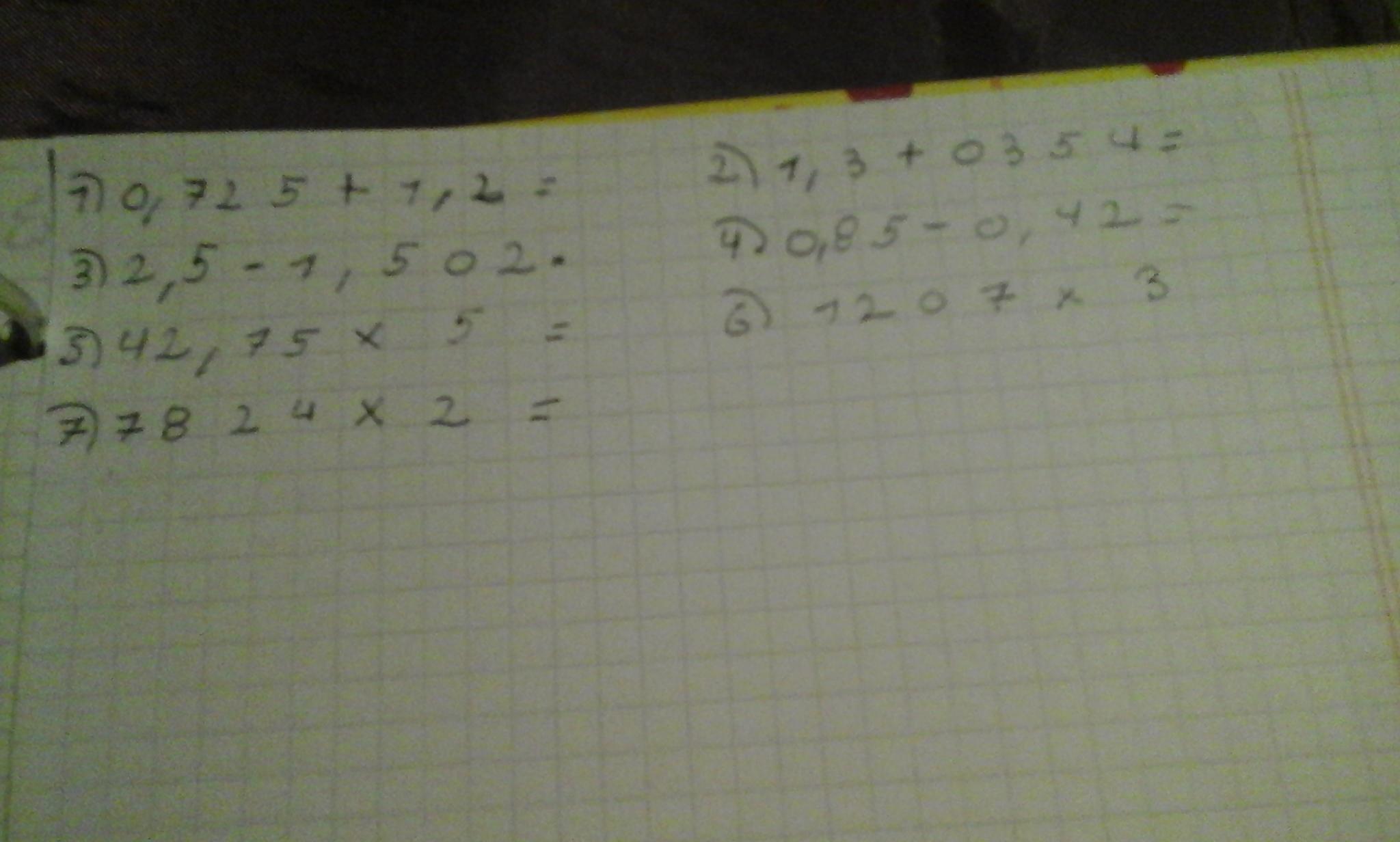 Fracciones decimales en borrador con cuenta porfavor marco como la ...