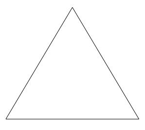 Que significa el triángulo equilatero - Brainly.lat