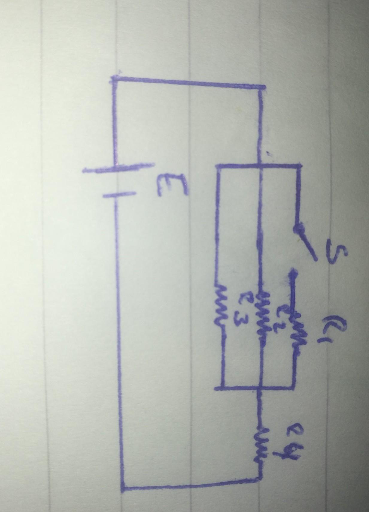Circuito Paralelo Y En Serie : Dibujar un circuito con tres resistencias en paralelo una en